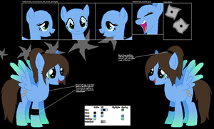 CUSTOM/GIFT: Moonlit Mask ~Official Character Ref~ by Winter-Wondermare