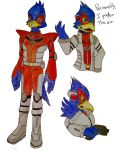 Falco Lombardi doddle by ValePeach