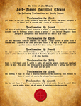 Hell's Bibbles- Thrune's First 7 Proclamations by WhoDrewThis