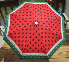 Watermelon and Lace Umbrella Preorder by egyptianruin