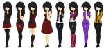 OC Outfit Sheet Lizzy WIP by lizzy-dark-rose