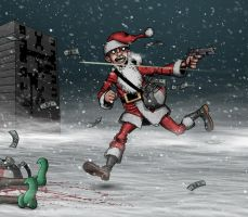 Christmas Card 2009 Part 02 by TomBerryArtist