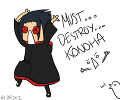 MUST DESTROY KONOHAAAAAAA lul by Deski