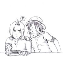 Edwuard and Luffy by Angy89