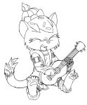 Sugar sprinkles playing her ukulele Sketch by MetaDragonArt