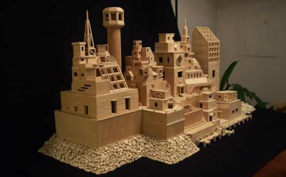 Bob's Toothpick City by Bob Morehead by BobsToothpickCityArt
