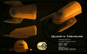 Ferengi Shuttle 'Quark's Treasure' ortho by unusualsuspex