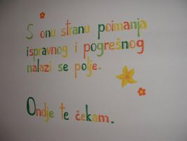 Rumi's Poetry on Wall by Sikorax