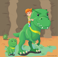 Claus Riding on a Drago by Kosmotiel