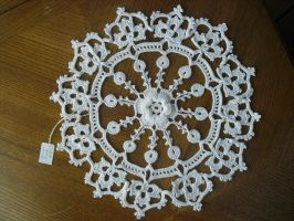 Irish Rose Doily by JeffrettaLyn