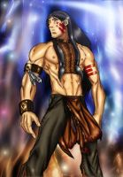 Shaman Indian Native coloring by Orsus