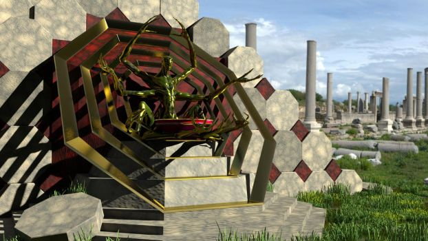 Ancient temple of the spider god by griffon3d