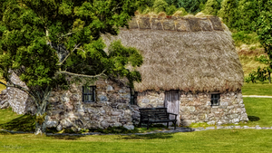 Scotland - Old Leanach Cottage on Culloden Moor by pingallery