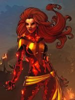 Dark Phoenix - Colored by JamieFayX