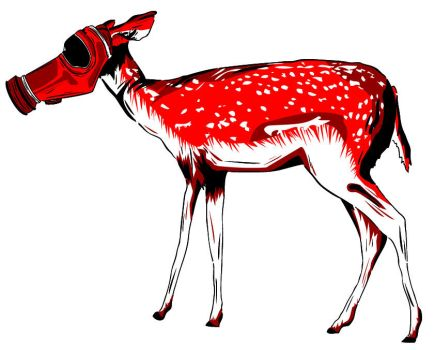 STENCIL - Female Deer by CrisisProject