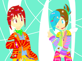 Heidi and Liver Decora stuffs by teeny-pie-minion