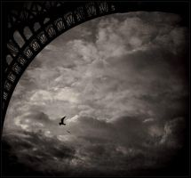 Under the Eiffel tower by daaram