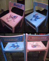 Stitch and Angel chairs by taiyakitsune