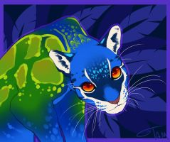 Clouded Peacock Leopard by TamberElla