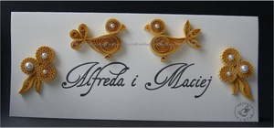 Quilling - golden anniversary/name tag 1 by Eti-chan