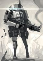 Something Ashley Wood Would Paint by funkychinaman