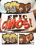 Epic Chaos Embroidery Hat by Mysticalpchan