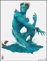 From the depths of the Sea, a Water Elemental! by BPezzillo