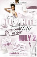 All White Affair Flyer by AnotherBcreation
