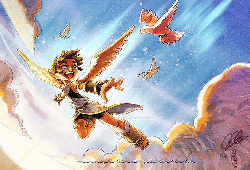: Kid Icarus collab : by Marmottegarou