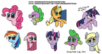 Some My Little Pony Heads by ericremotesteam