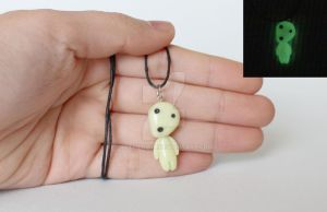 Kodama Polymer Clay Necklace by ArtzieRush