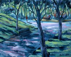 Walk in the park oil paint by Boias