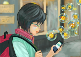 Modern Connections: Emojis by kaisaki1342