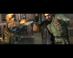 wesker vs chris by kaiserfly