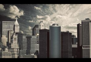 Blue Skies of New York by PortraitOfaLife