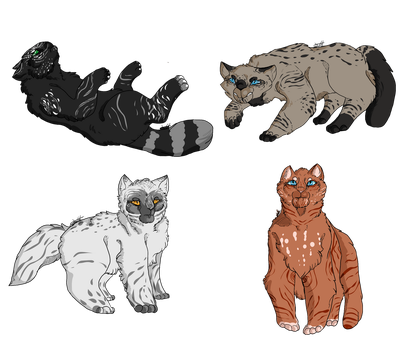 OPEN 4/4 WTA warriors adopts by OverLord-Adopts