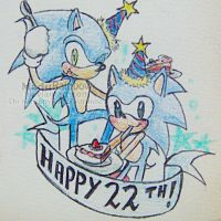 Sonic's 22th Birthday by MaduRainbow