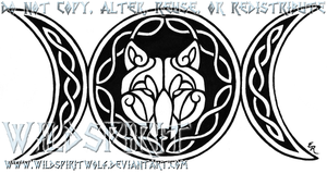 Wolven Triple Goddess Tattoo by WildSpiritWolf
