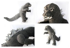 Custom Godzilla Plush by pookat