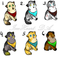 Puppy adoptables -1 LEFT- by IceeHeart