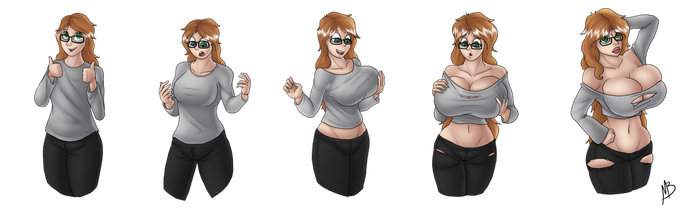 Leah - Bimbo Sequence by Midas-Bust