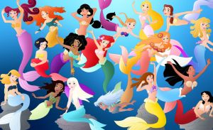 All the disney Mermaids by Willemijn1991
