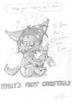 Merry Christmas Hyrit by EUAN-THE-ECHIDHOG