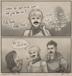 Sera with a moustache by slugette