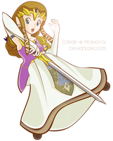 Princess Zelda CG by Pitahaya