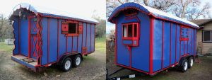 Gypsy Wagon Exterior Finished by iisaw