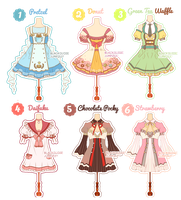 [CLOSED] Dessert Theme Outfit Adoptable#6 by Black-Quose