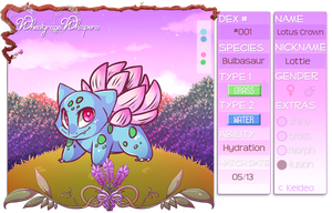 PKMNation :: Lotus Crown by CherryBuns