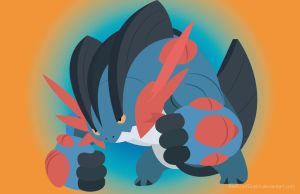 Mega Swampert by RedScarfGuy01