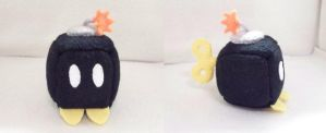 Bomb Omb Cube Plushie by Cube-lees
